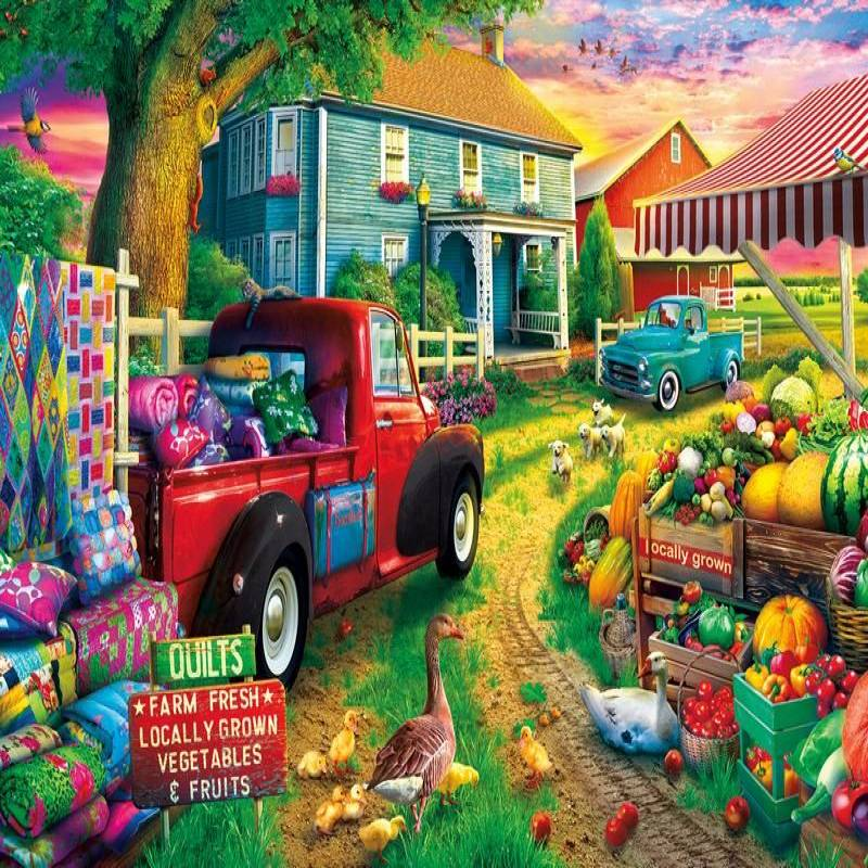 Artsyhomes [Jigsaw Puzzles] Quilt Farm Jigsaw Puzzle CL28050101