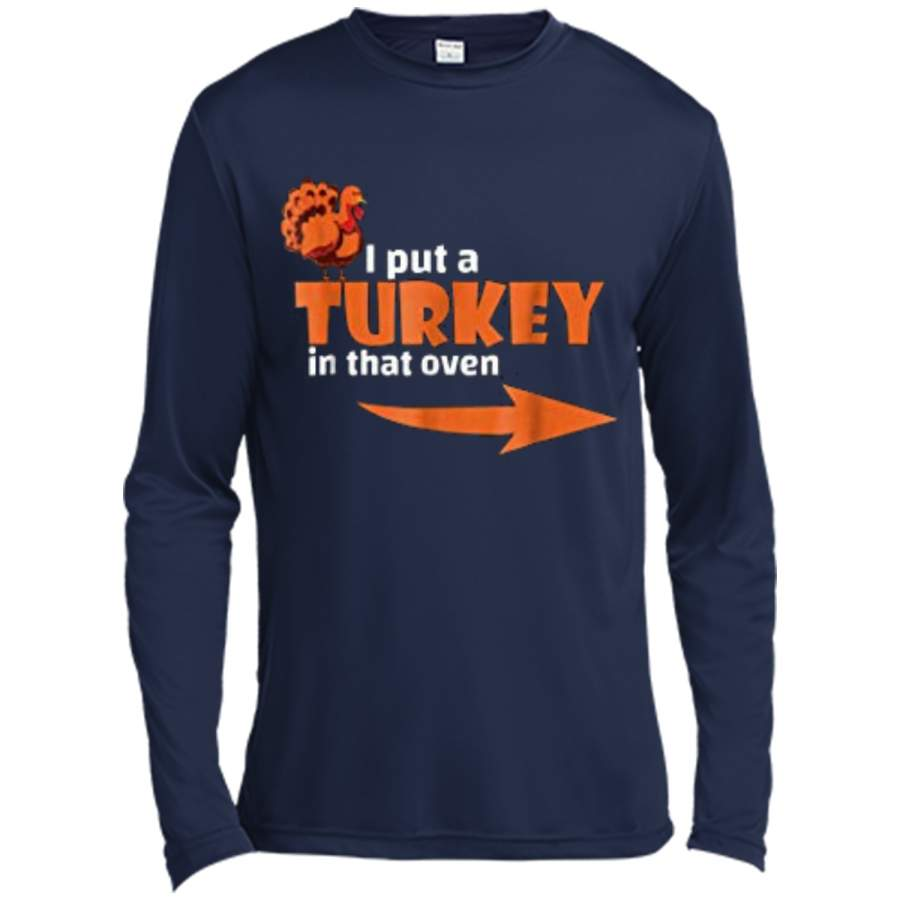 thanksgiving turkey expecting dad pregnant wife tee long