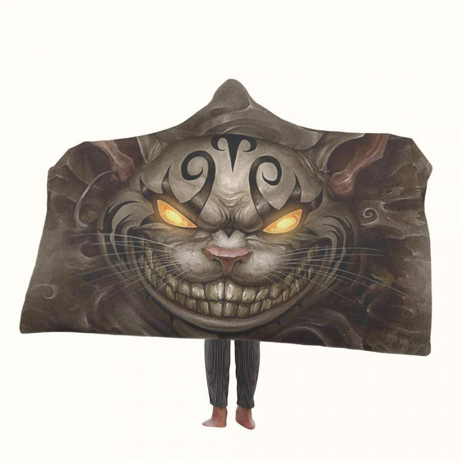 Alice in Wonderland Evil Cheshire Cat Hooded Blanket