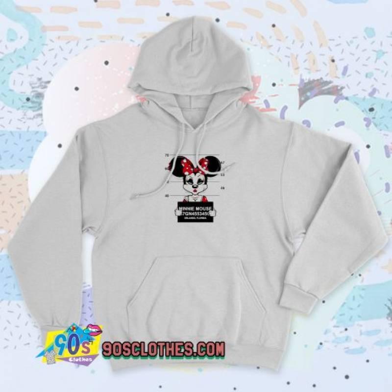 Disney Minnie Mouse Mugshot 90s Hoodie