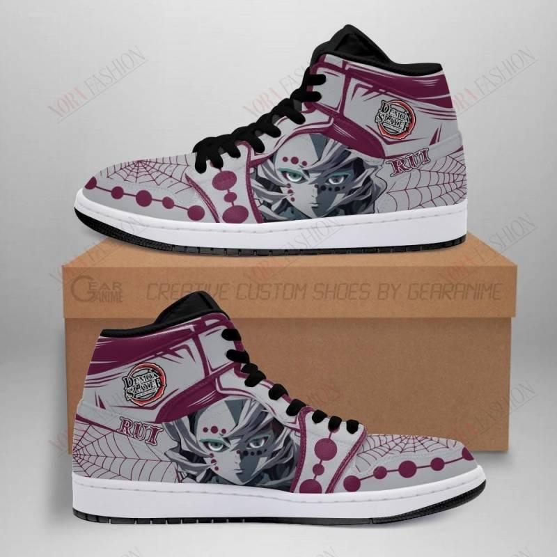 Demon Rui Shoes Boots Demon Slayer Anime Sneakers Fan Gift Idea
