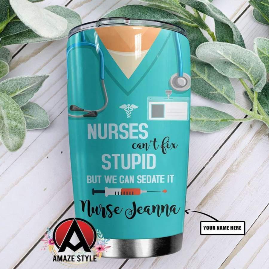 Nurse stainless steel tumbler HG32407