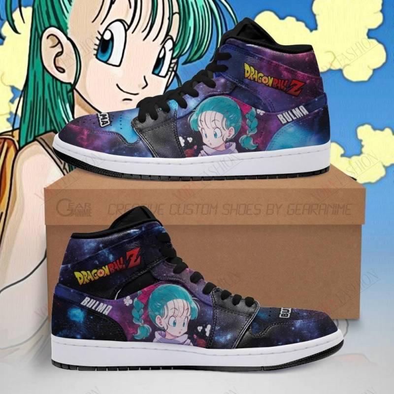Bulma Shoes Boots Galaxy Dragon Ball Z Sneakers Anime Fan PT04
