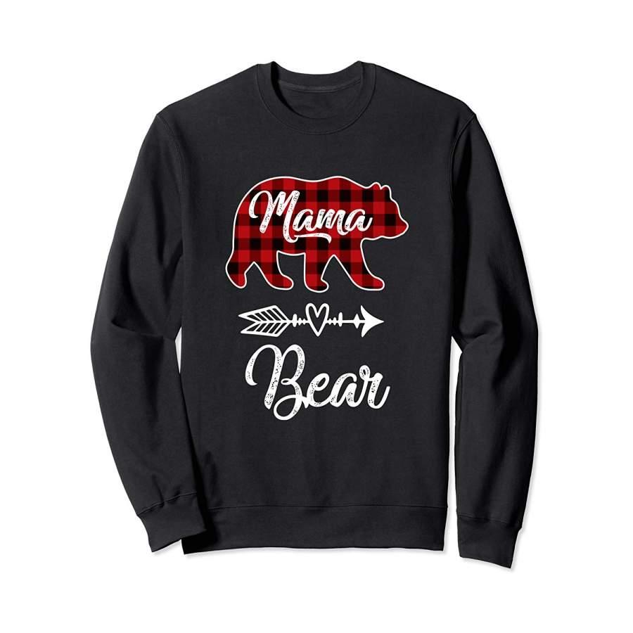 Mama Bear Matching Family Christmas Pajamas Men Women ...
