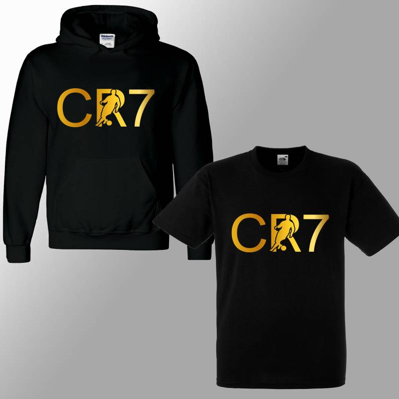 Ronaldo CR7 Inspired Soccer Hoodie/ T Shirt Juve Jumper football Footy Merch Jumper Christiano Dribbling Ronaldo Tee Boys Girls Gift 3-13yrs